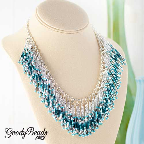 GoodyBeads | Blog: Seed beads and bugle beads makes this stunning statement necklace