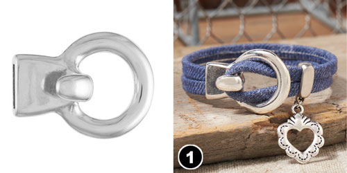 GoodyBeads | Blog: Using Round Hook Clasp with Flat Leather.