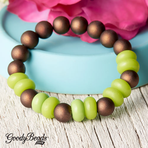GoodyBeads | Blog: Pantone Color of the Year Greenery - Bracelet