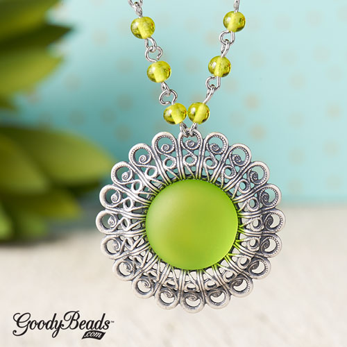 GoodyBeads | Blog: Pantone Color of the Year Greenery - Necklace