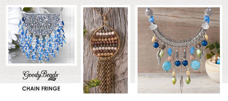 GoodyBeads | Blog: Fringe jewelry using chain.