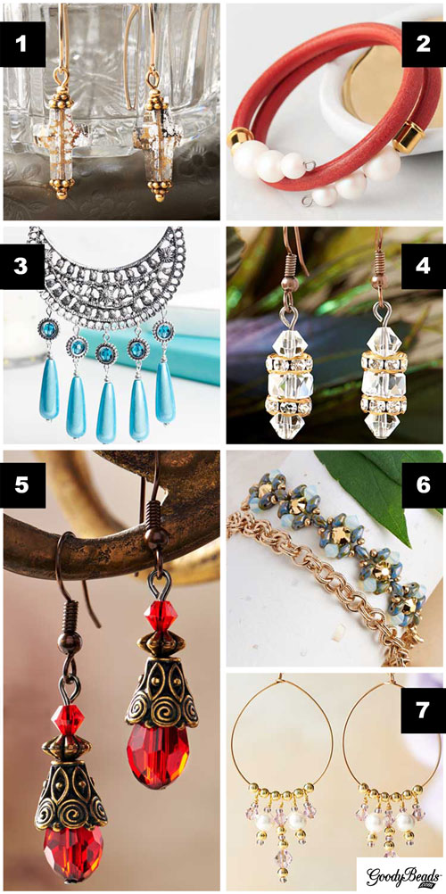 GoodyBeads | Blog: Examples of jewelry using Swarovski crystals and/or pearls!