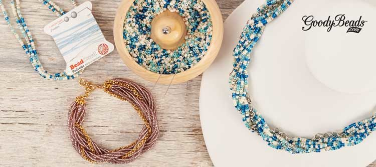 GoodyBeads | Blog: Seed Bead Twist tutorial - necklace and bracelet