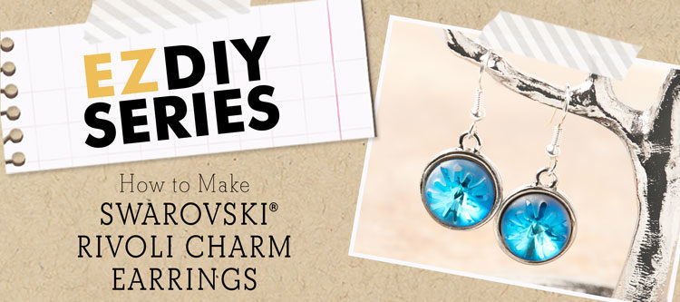 GoodyBeads | Blog; Easy DIY Swarovski rivoli charm earrings