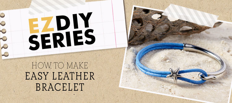 GoodyBeads | Blog: Easy DIY Leather Bracelet with 2mm leather cords.