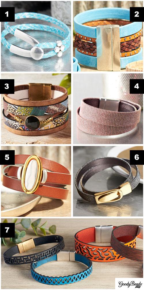 GoodyBeads | Blog: Flat Leather inspirational bracelet accessory