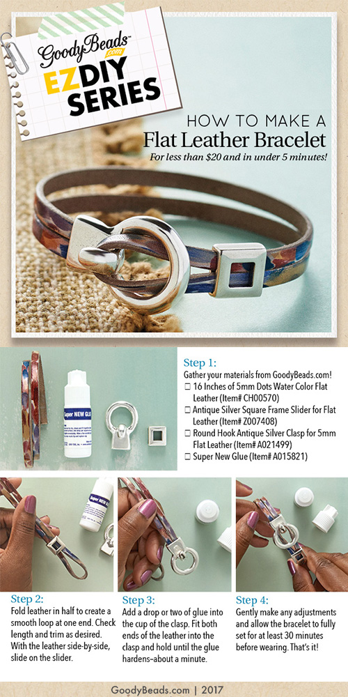 GoodyBeads | Blog: EZ DIY - How to Make a Flat Leather Bracelets in Minutes!