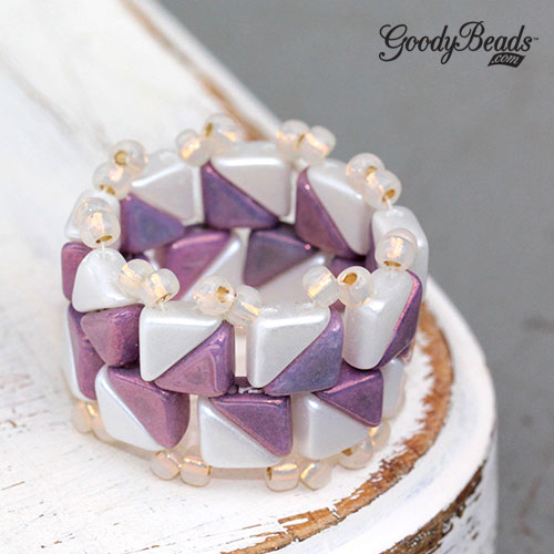 GoodyBeads | Blog: Two Hole Beads - Tango Ring with FREE tutorial