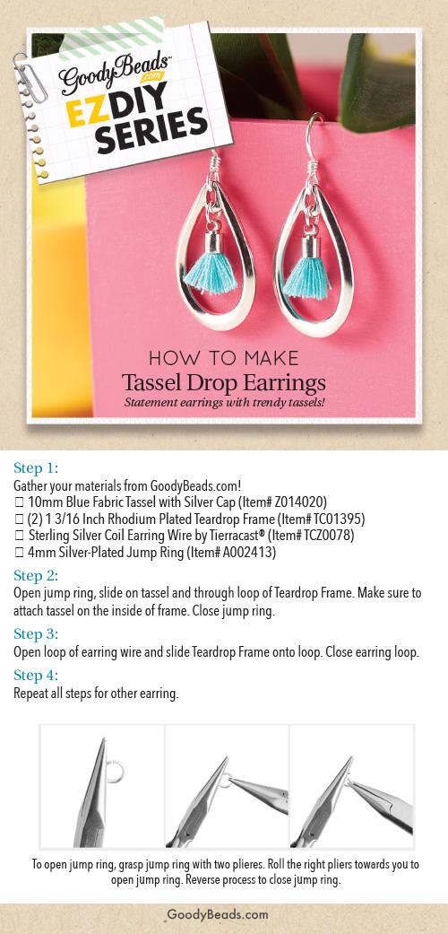 GoodyBeads | Blog: Easy DIY Tassel Drop Earrings