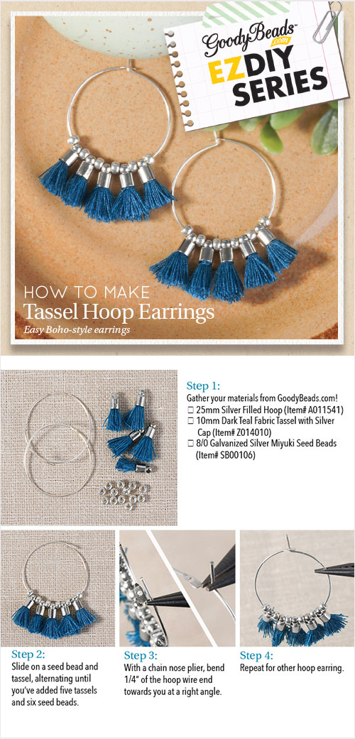 Goodybeads Ez Diy Series Tassel Hoop Earrings Goodybeads Blog