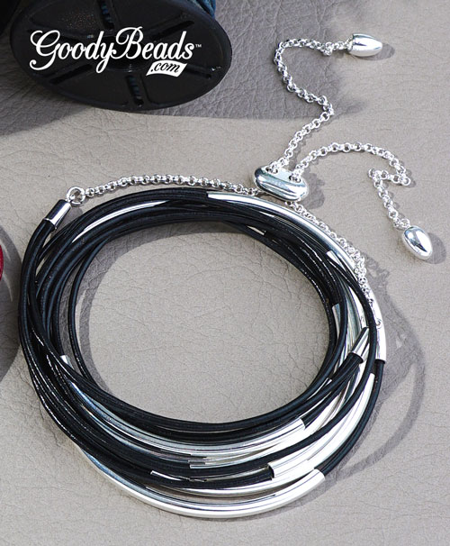 GoodyBeaeds Blog: 1.5mm Leather Cord Wrap Bracelet Tutorial