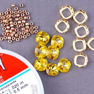 Swarovski® Light Topaz Jewelry Tutorials - GoodyBeads Blog