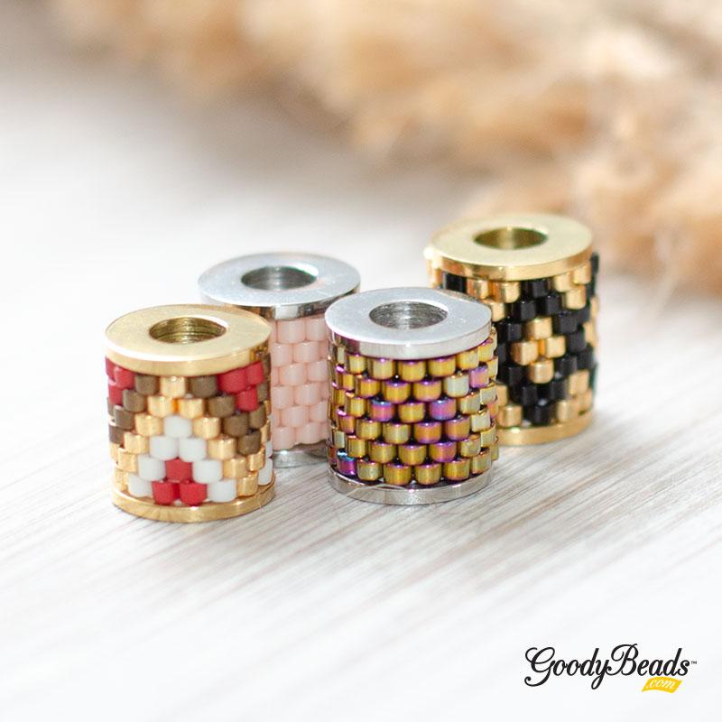 GoodyBeads Blog | DIY Beadable Column Bead with Twist Off Bezel - FREE Pattern Template