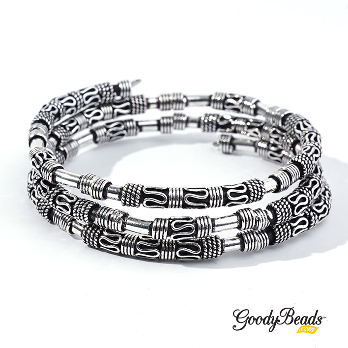 GoodyBeads.com Blog | Design DIY Jewelry with Bali-Style Beads - DIY Bali-Style Wrap Bangle FREE Tutorial