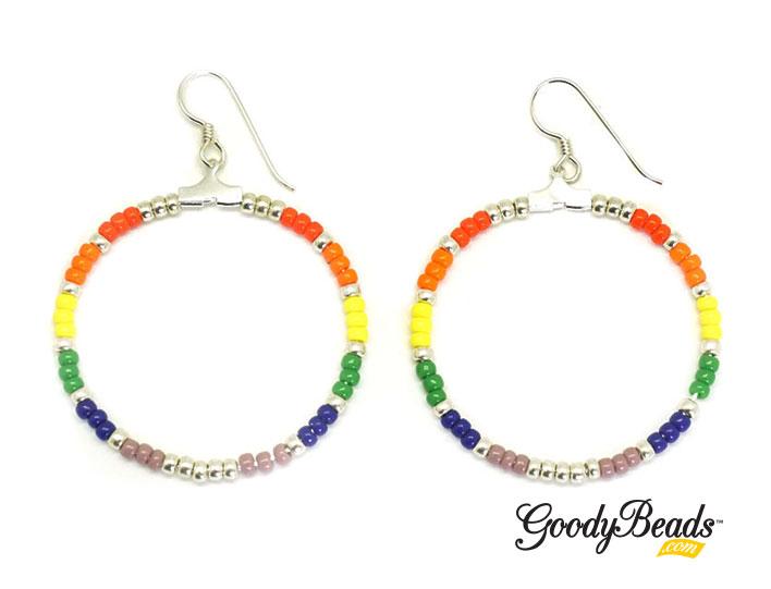 GoodyBeads.com Blog | Celebrate Summer with DIY Seed Bead Rainbow Earrings